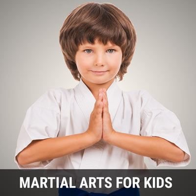 Martial Arts For Kids including kickboxing, karate and jiu jitsu