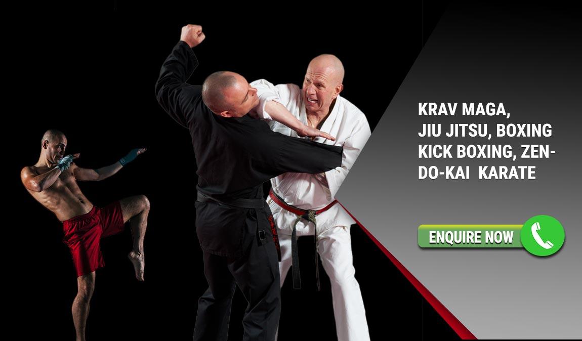 Learn KravMaga, Kickboxing, Karate and Zen Do Kai